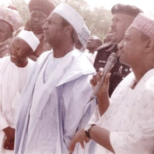 Late President Yar'adua inspecting Ambulances supplied by WMRAP to Katsina State