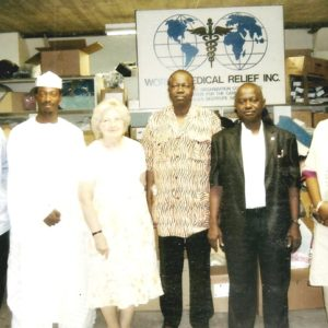 MD with Niger State delegations to USA at WMR warehouse in Detroit